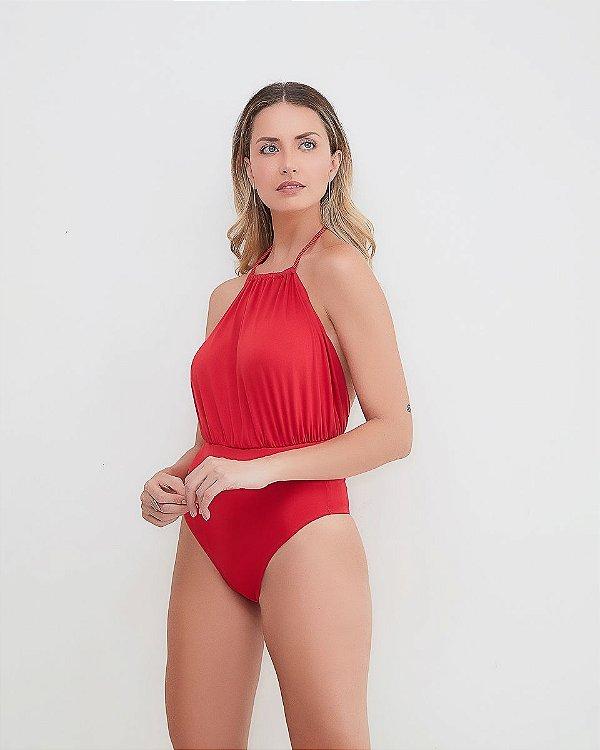 Maiô/Body Cascais Vermelho Shine