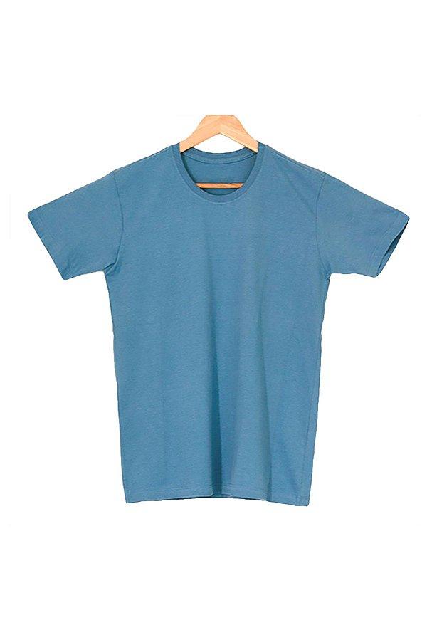 T-Shirt Algodão Orgânico Azul