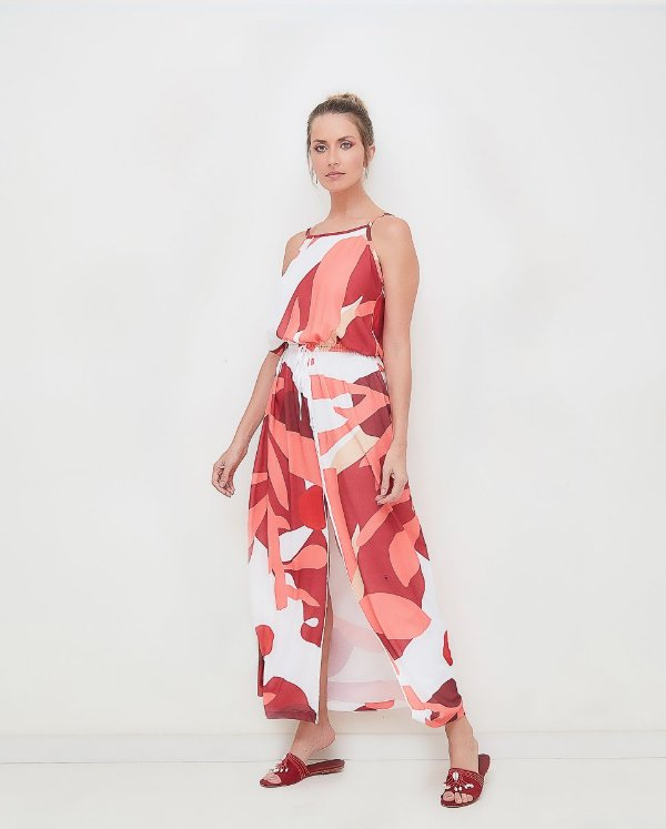 Vestido Regata Coral