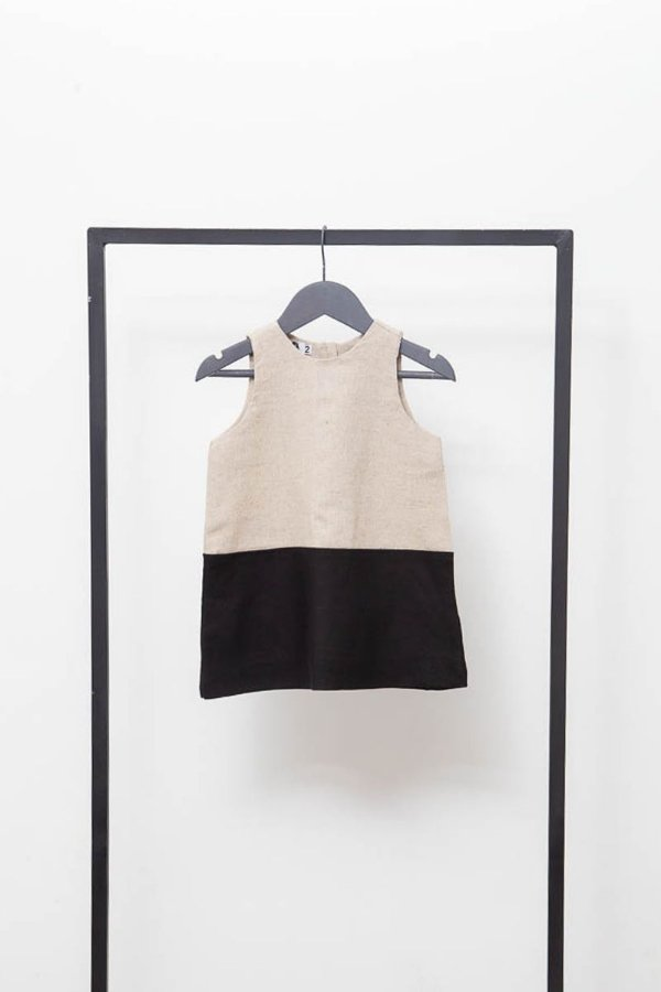 Vestido Pratico Cru Preto (Infantil)