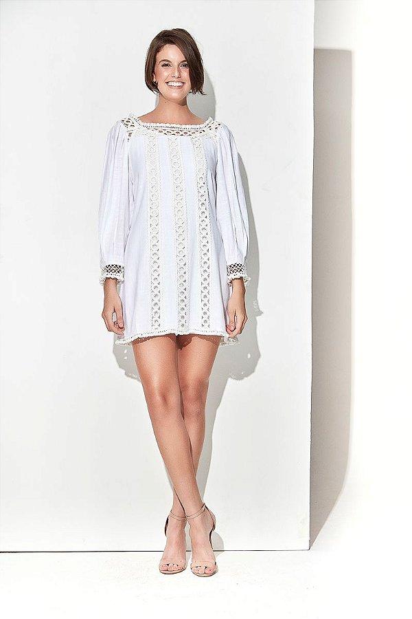 Vestido Entremeio Branco
