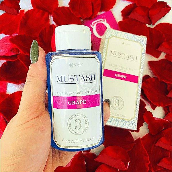 MUSTASH - Calda Beijavel  Para Sexo Oral Sabor: Uva | 100 ml KALYA