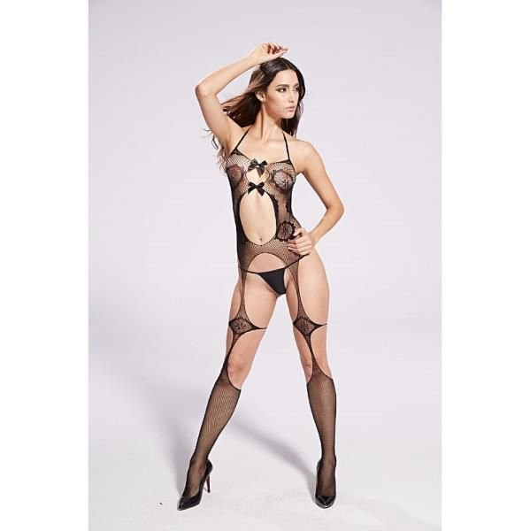 BODYSTOCKING - Vaqua Fishnet Kinghong 8927