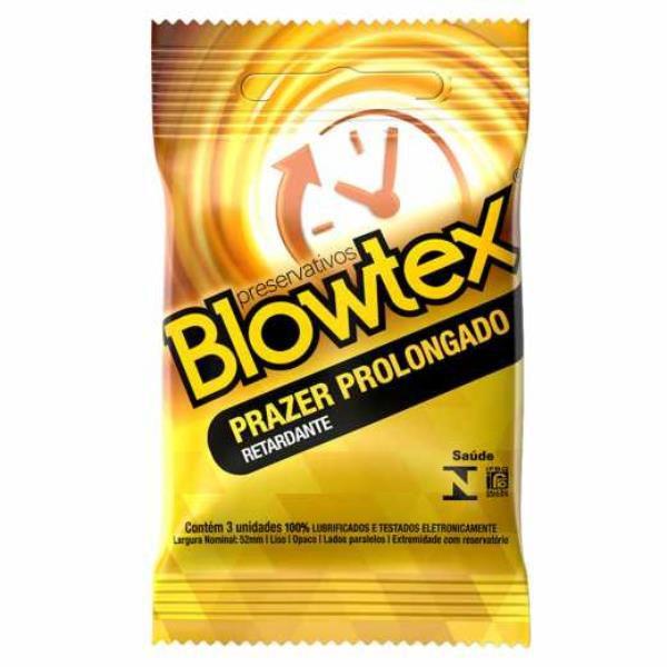 PRESERVATIVO BLOWTEX - Prazer Prolongado Retardante | Pacote com 3 unidades