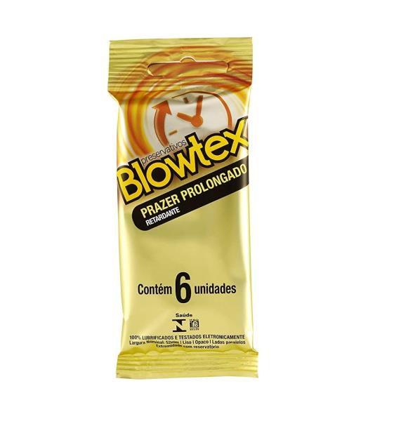 PRESERVATIVO - Blowtex Prazer Prolongado | 6 unidades