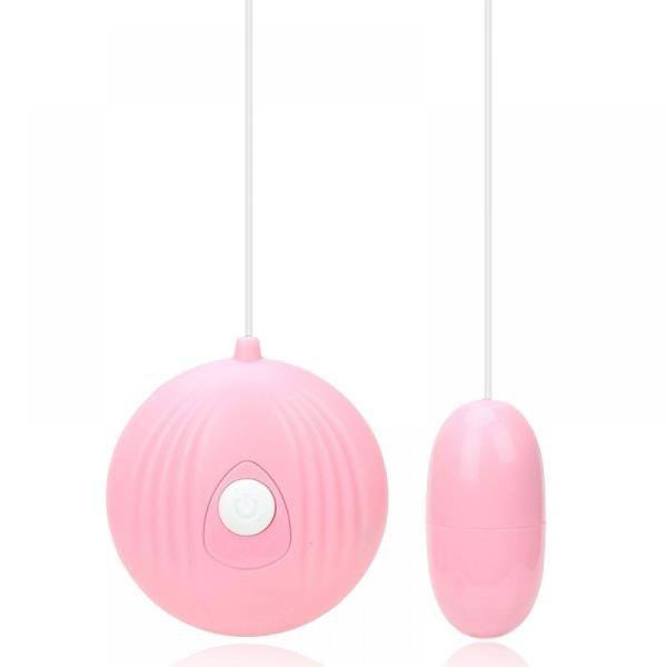 OV001C - Cápsula Vibratória com 7 Modos de Vibração e Controle Remoto com Fio   Cor: Rosa