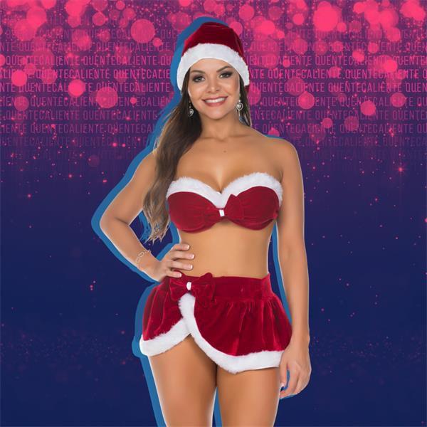 FANTASIA - Mamãe Noel de Saia Natal - Tamanho: Único | 4201