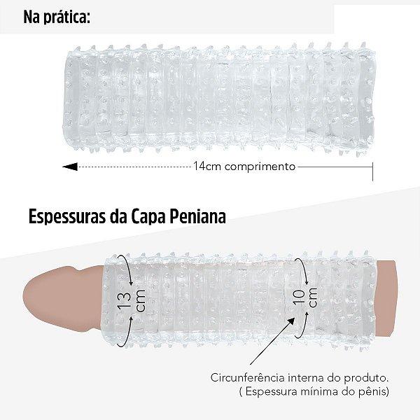 SEXY FANTASY - Capa Expansora Vazada em Silicone 14Cm