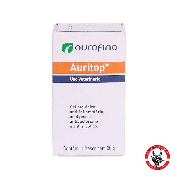 Auritop - Gel Otológico Anti-inflamatório, Analgésico, Antibacteriano e Antimicótico - Trata otites agudas e crônicas de cães e gatos.