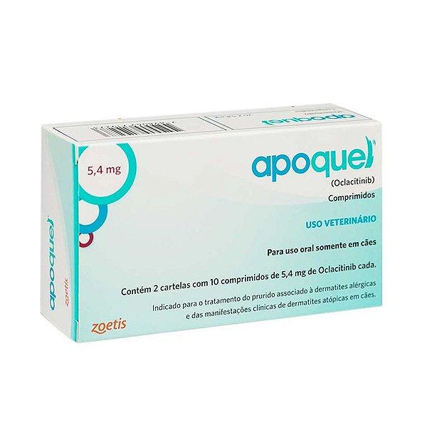 Apoquel - Dermatites Alérgicas p/ Cães  - 5,4mg - 20 Comprimidos