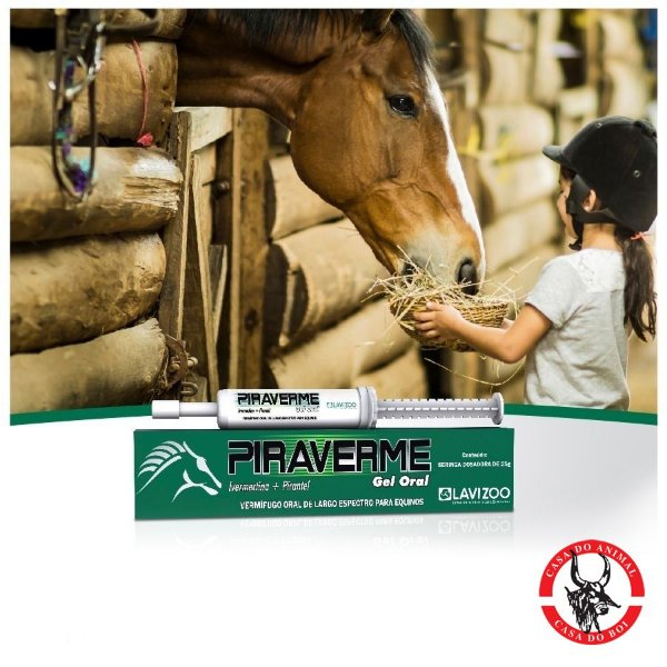 Vermífugo para Cavalos - Piraverme - Lavizoo - Seringa com 25g