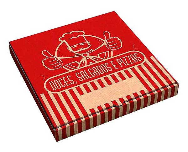 Caixa de papelão quadrada p/doce-salgado-pizza nr 40 - Pct c/50