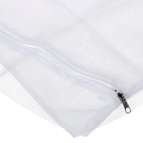 Saco de poliester p/lavar roupa M 46x73 cm - Pct c/2