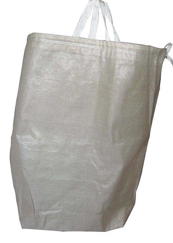 Sacos de Ráfia p/Lavanderia HB 1x0,70 m c/cadarço e alça - 30 unidades