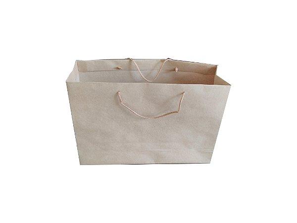 Sacolas de papel kraft 180g 22x10x25cm - Pct c/50