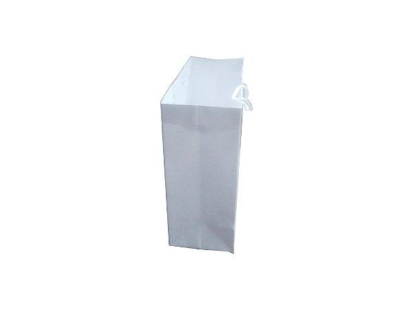 Sacolas de papel brancas 180g 22x10x25cm - Pct c/50