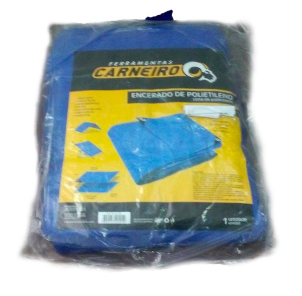 Lona plástica multiuso 7X4m Azul c/ilhoses Pct c/1