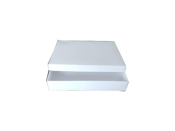 Caixas de cartão brancas multiuso 325 g, 39x32x7 cm - Pct c/25