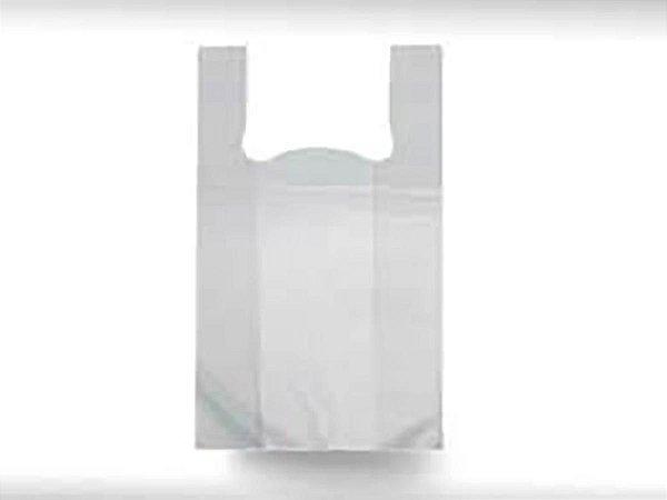 Sacolas Camiseta Brancas 59x74x0,022 - Pct c/1.000