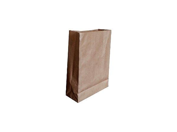 Sacos de papel kraft 80g p/hamburguer 25x10x36cm lisos - Pct c/100