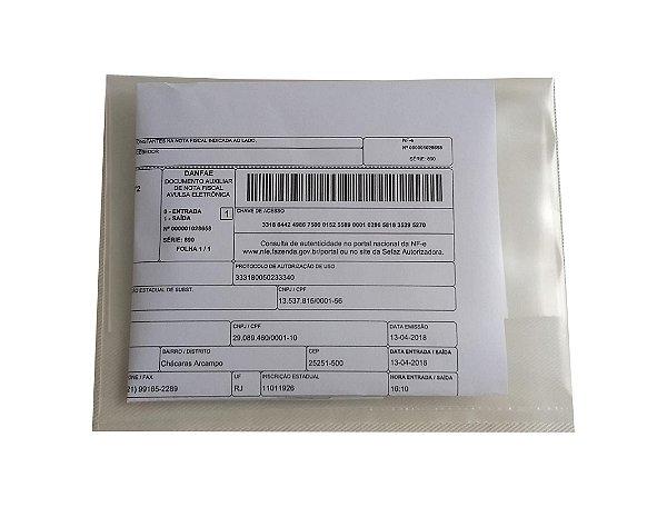 Envelope Plástico Transp P/danfe 15x20x0,12 - Pct c/1.000