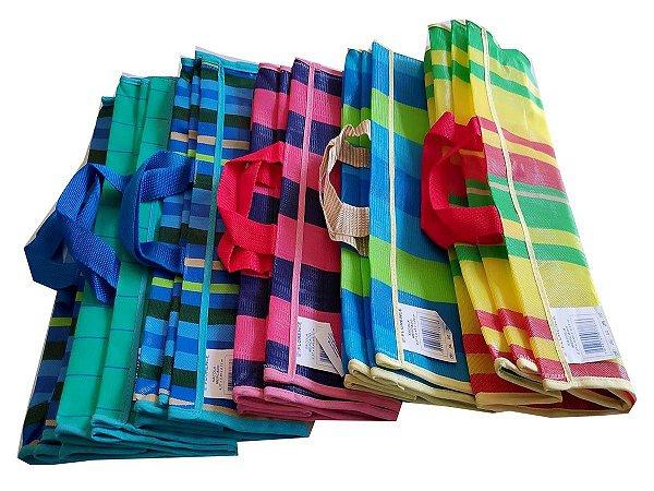 Sacola de polietileno 41X21X45cm p/mercado - Pct c/6