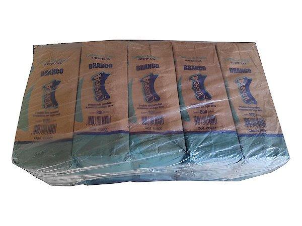 Toalha de papel branca interfolha 2D 20x21cm - Pct c/5x800fls