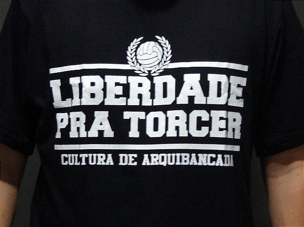 Camisa Liberdade pra Torcer Preta