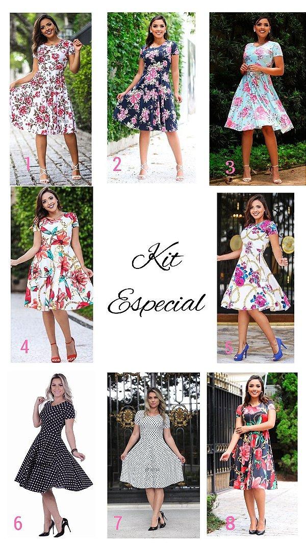 c5816eebb Kit Especial Vestido Midi Godê - Platano Moda Atacado - Executiva e ...