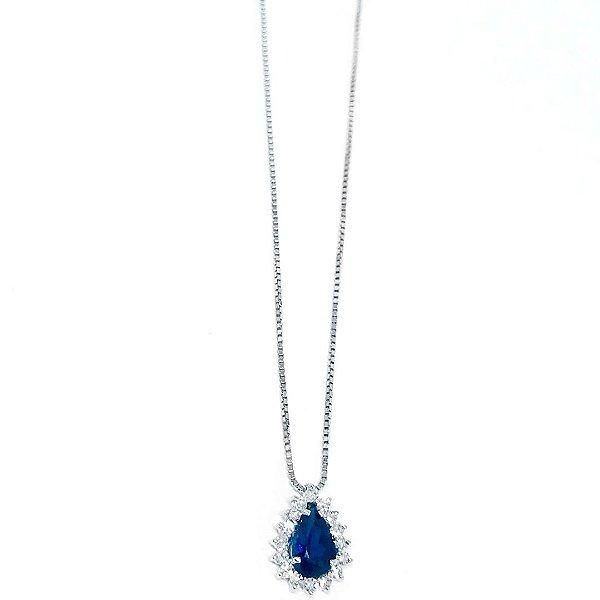 Colar Princess Safira Azul