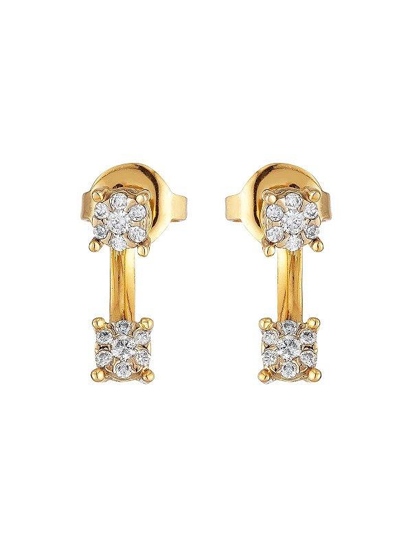 Brinco Grace Kelly Diamantes