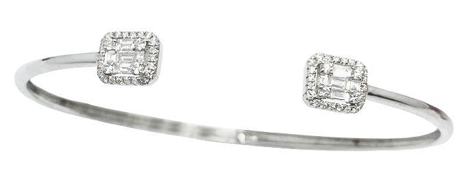 Bracelete Diamantes Baguetes