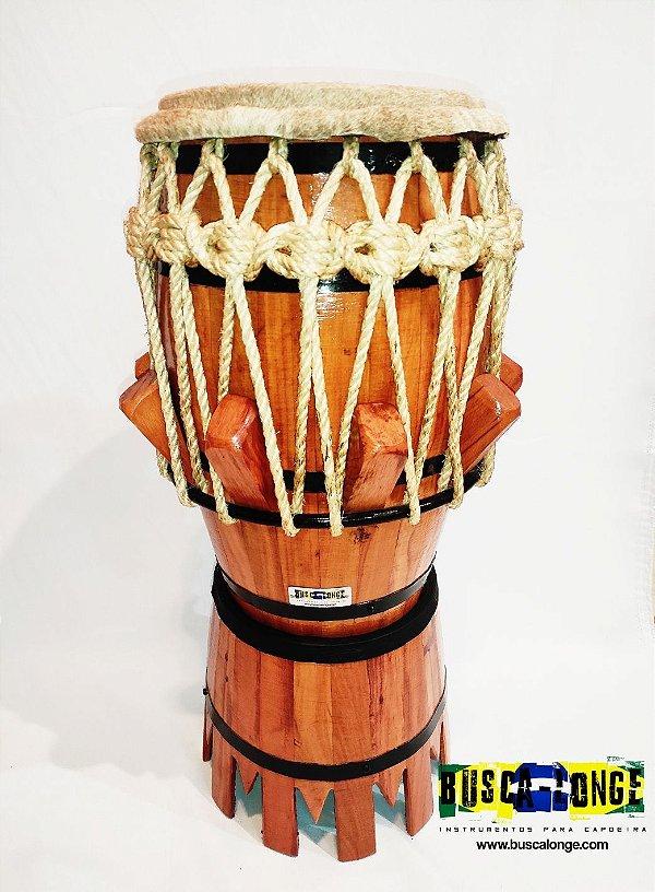Atabaque de couro pequeno (ideal para tocar sentado) alt 75cm