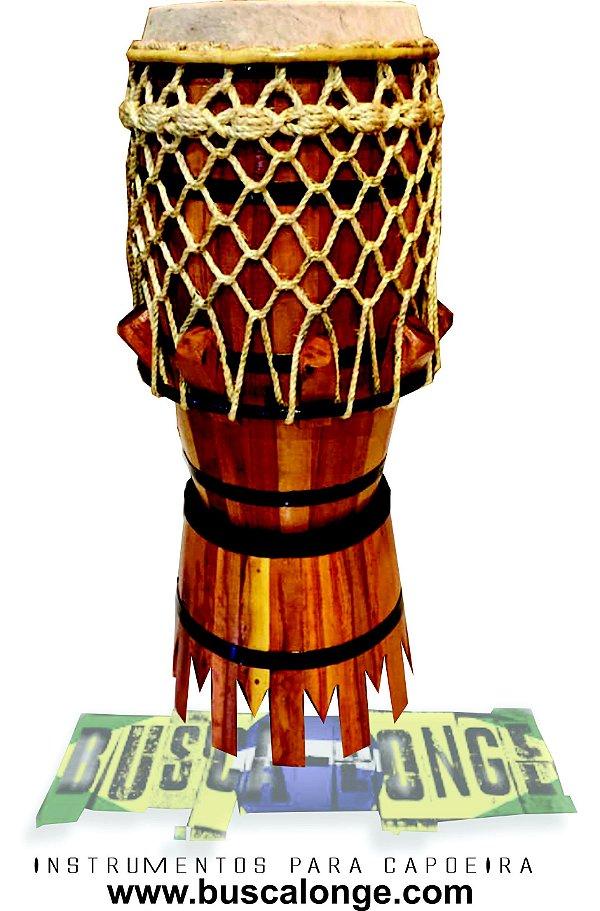 Atabaque de couro pequeno (ideal para tocar sentado) trançado especial  rede