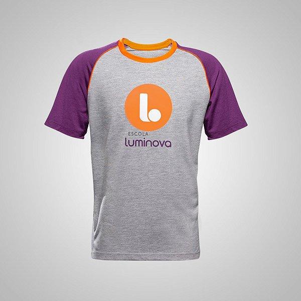 A - Camiseta Manga Curta - Educação Infantil - Uniforme Luminova