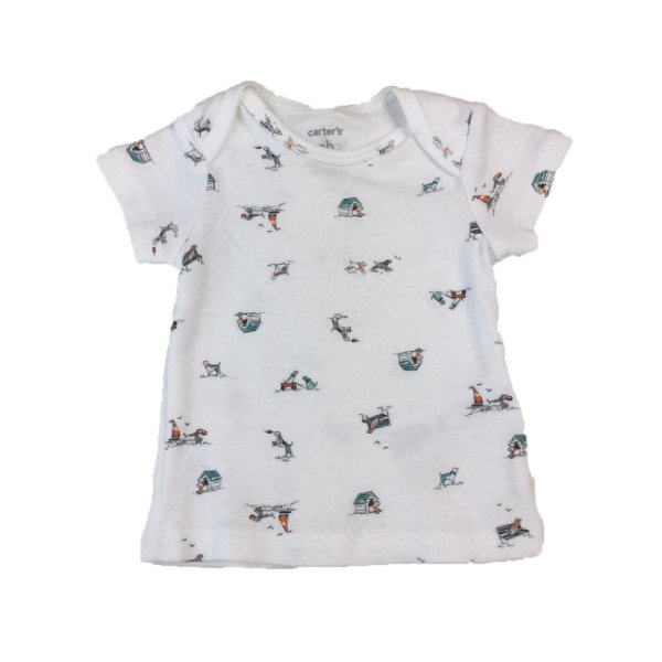 45c24d121 Camiseta Masculina Carter´s Tam. RN - Brechó Infantil Mundo Kids