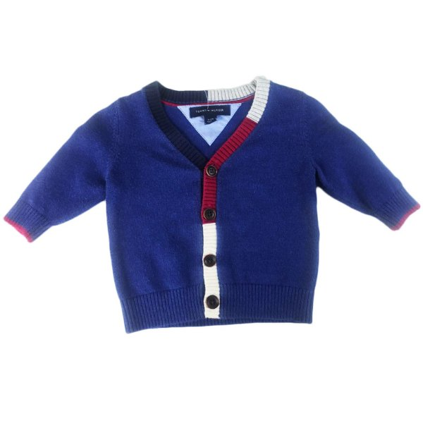 508731584 Cardigan Masculino Tommy Hilfiger Tam. 03 a 06 meses - Brechó ...