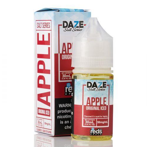 NicSalt Apple Iced 30mL Reds Apple - 7DAZE