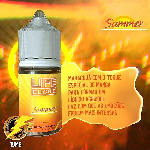 Nic Salt Summer Mango Passion 30mL - Life E-liquid