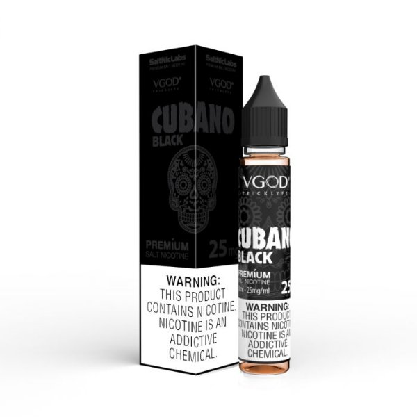 NicSalt Cubano Black 30mL - VGOD SaltNic