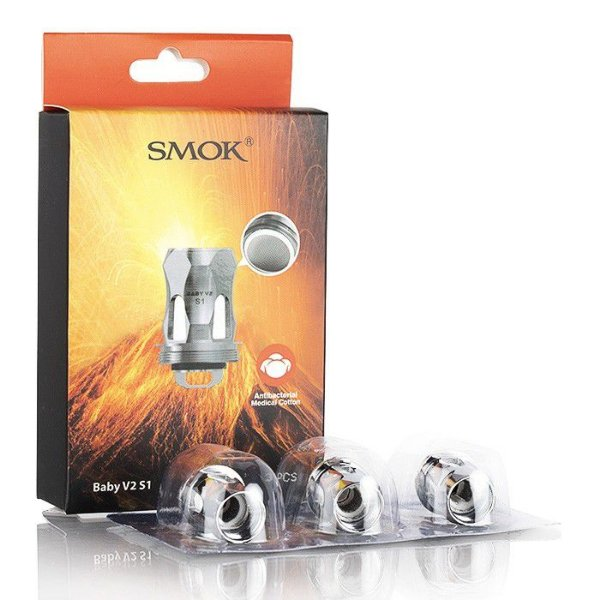 Coil Head Resistência Baby V2 S1/S2/A1/A2 P/ TFV8 (Stick V9 Max / Mag Grip / Species / R-KISS) - Smok