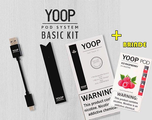 YOOP Basic Kit Pod System + Refil 4 Pods GRÁTIS - YOOP Vapor