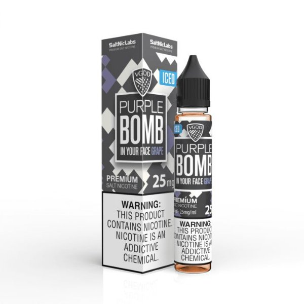 NicSalt Purple BOMB ICED (Grape) 30mL - VGOD SaltNic