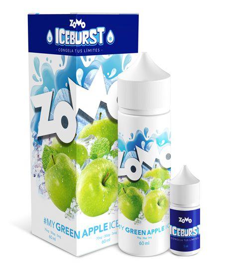 #My Green Apple Ice Zomo Iceburst 60mL - Zomo