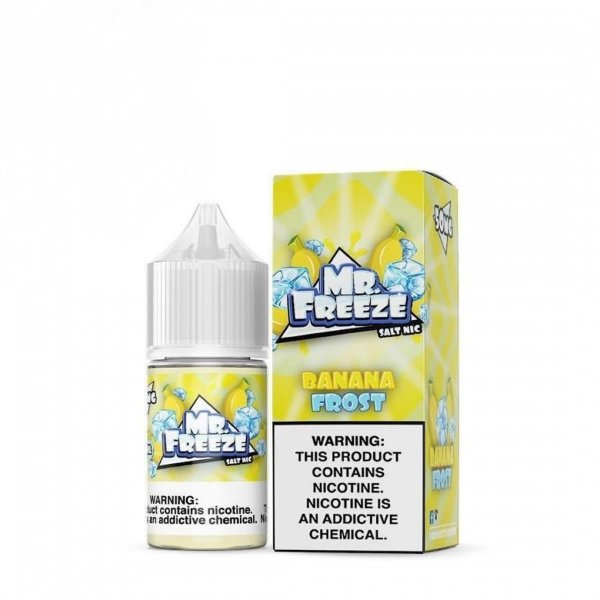 Mr Freeze NicSalt Banana Frost 30mL - Mr. Freeze E-Liquids