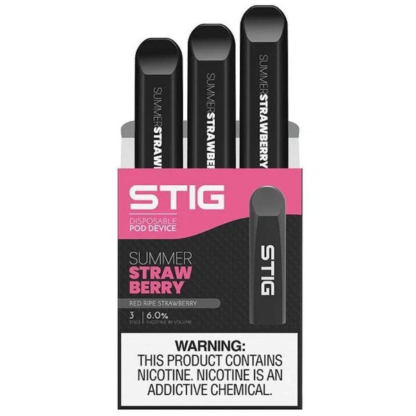 STIG Vape Pod Descartável Summer Strawberry C/3un. - VGOD