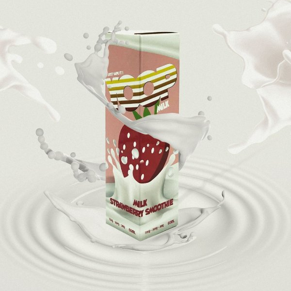 Juice Yoop Milk Strawberry Smoothie 60mL - Yoop Vapor