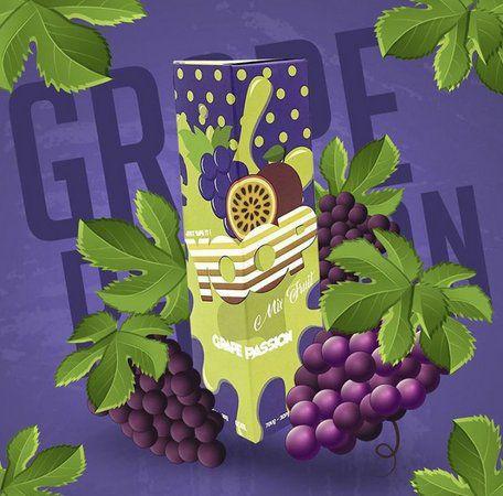 Juice Yoop Grape Passion 60mL - Yoop Vapor