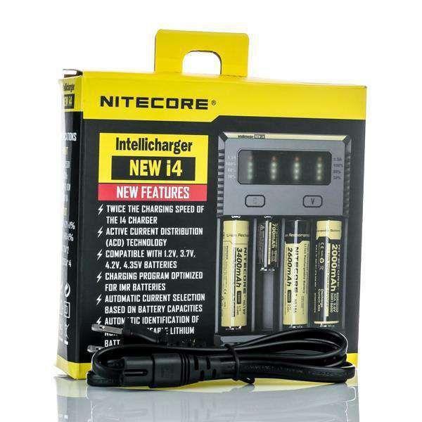 Carregador Nitecore New I4 Baterias Vape - Nitecore