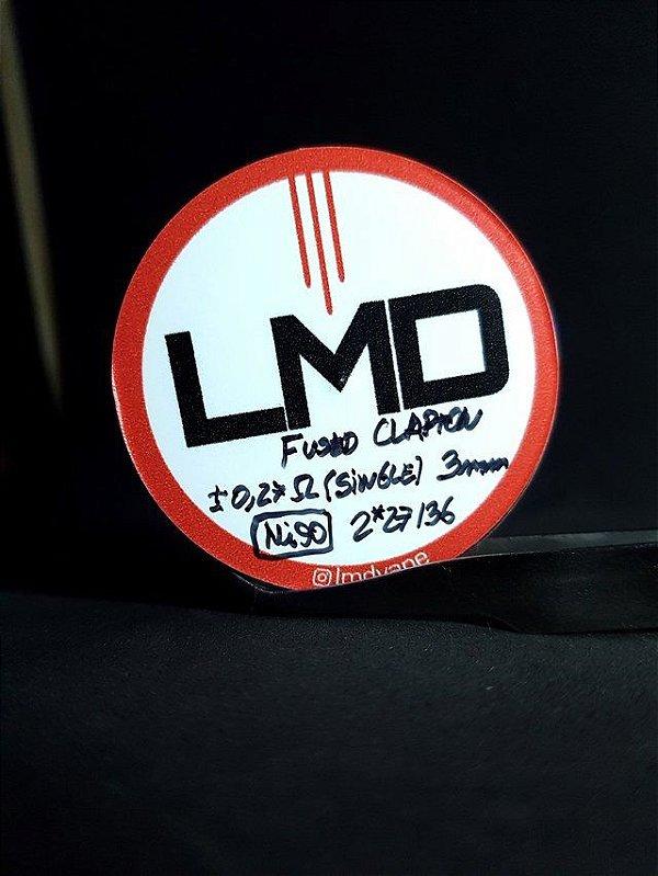 Coil Fused Clapton DL Ni90 (Resistências) 4un - LMD
